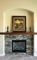 Thumb great room  traditional style  dark color  square mantel