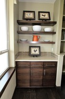Thumb misc  contemporary style  quartersawn walnut  dark color  floating shelves  pantry  buffet  full overlay